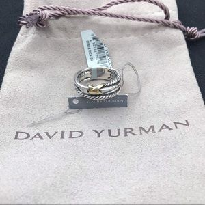 David Yurman X crossover ring 925 750 cable DY